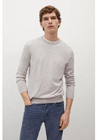 Mango Man - Sweter TEN. Okazja: na co dzień. Kolor: szary. Materiał: dzianina. Długość rękawa: długi rękaw. Długość: długie. Styl: casual