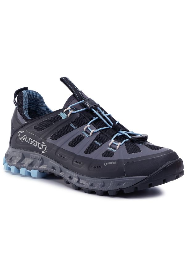 Czarne buty trekkingowe Aku z cholewką, trekkingowe, Gore-Tex