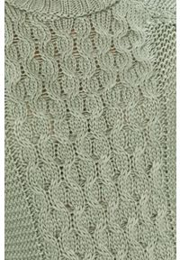 Miętowy sweter Answear Lab wakacyjny, raglanowy rękaw