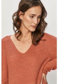 Różowy sweter Haily's na co dzień, casualowy, długi, z długim rękawem