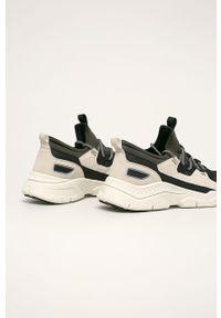 Wielokolorowe sneakersy medicine z okrągłym noskiem, z cholewką, na sznurówki