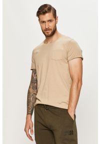 Szary t-shirt Jack & Jones casualowy, z okrągłym kołnierzem