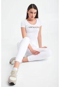 Armani Exchange - T-SHIRT ARMANI EXCHANGE. Materiał: bawełna. Długość rękawa: krótki rękaw. Długość: krótkie. Wzór: haft, nadruk