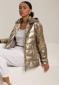 Brązowa kurtka pikowana Renee