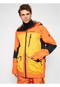 Pomarańczowa kurtka przeciwdeszczowa Peak Performance