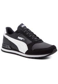 Sneakersy PUMA - St Runner V2 Nl Jr 365293 01 Puma Black/Puma Black. Okazja: na uczelnię, na co dzień. Kolor: czarny. Materiał: skóra, materiał. Szerokość cholewki: normalna. Styl: casual