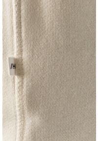 Selected - Bluza bawełniana. Okazja: na co dzień. Typ kołnierza: kaptur. Kolor: beżowy. Materiał: bawełna. Styl: casual