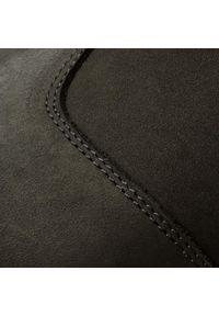 Czarne buty zimowe Kazar na jesień, na zamek, klasyczne, z cholewką