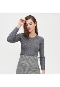 Szary sweter Cropp w prążki