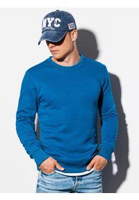 Niebieska bluza Ombre Clothing na co dzień, casualowa, bez kaptura
