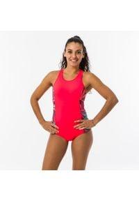 NABAIJI - Strój Jednoczęściowy Pływacki Vega Light Damski. Kolor: czarny, wielokolorowy, czerwony, różowy. Materiał: poliester, elastan, poliamid, materiał