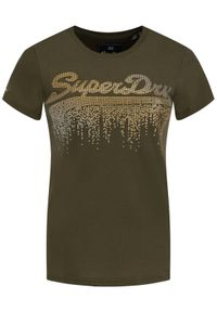 Zielony t-shirt Superdry