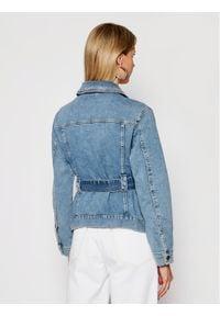 My Twin Kurtka jeansowa 202MP2070 Niebieski Regular Fit. Kolor: niebieski. Materiał: jeans