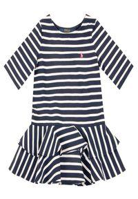 Niebieska sukienka Polo Ralph Lauren na co dzień, casualowa, polo, prosta