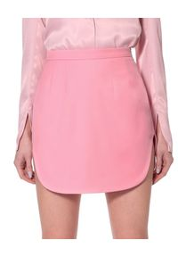 AGGI - Spódnica mini z wycięciami Claudia. Kolor: wielokolorowy, różowy, fioletowy. Materiał: żakard. Wzór: prążki