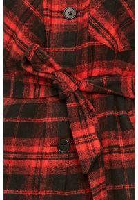 Czerwona koszula Answear Lab długa, na co dzień