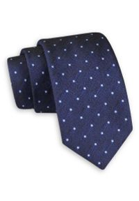 Niebieski krawat Angelo di Monti elegancki, w kropki