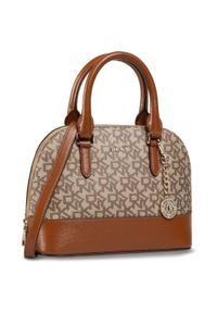 Brązowa torebka klasyczna DKNY klasyczna
