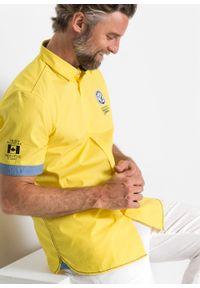 Żółta koszula bonprix krótka, z krótkim rękawem, z nadrukiem #7