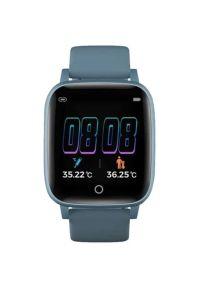 Niebieski zegarek Bemi sportowy, smartwatch