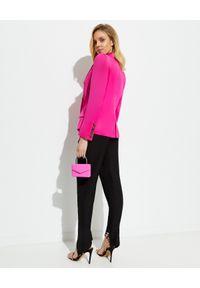 ALEXANDRE VAUTHIER - Różowa marynarka. Kolor: różowy, wielokolorowy, fioletowy. Długość rękawa: długi rękaw. Długość: długie