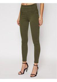 Zielone jeansy slim Patrizia Pepe
