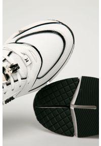 Białe buty sportowe Karl Lagerfeld na sznurówki, z cholewką