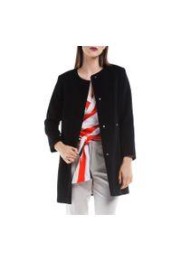 Czarny płaszcz Wittchen elegancki