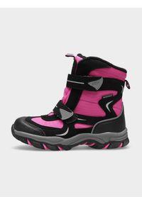 Wielokolorowe buty zimowe 4f z cholewką, na rzepy, na zimę