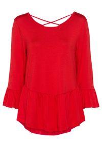 Czerwona bluzka bonprix w paski