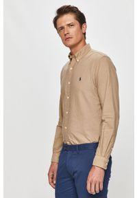 Beżowa koszula Polo Ralph Lauren casualowa, długa