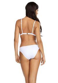 Biały strój kąpielowy dwuczęściowy Lorin gładki