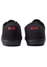 Czarne półbuty Big-Star z cholewką, na płaskiej podeszwie