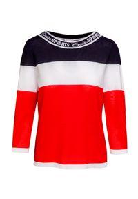 Sweter Sportalm z kontrastowym kołnierzykiem, z nadrukiem