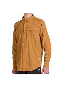 Brązowa koszula The North Face elegancka, z krótkim rękawem, krótka