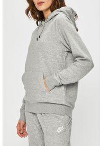 Nike Sportswear - Bluza. Okazja: na co dzień. Typ kołnierza: kaptur. Kolor: szary. Materiał: dzianina. Długość rękawa: raglanowy rękaw. Styl: casual