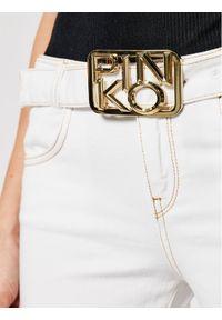 Białe jeansy bootcut Pinko
