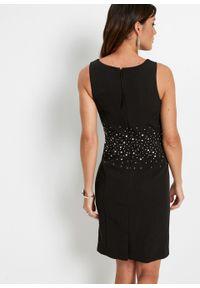 Sukienka ołówkowa z brokatowym połyskiem bonprix czarny. Kolor: czarny. Typ sukienki: ołówkowe. Styl: elegancki