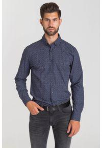 Niebieska koszula JOOP! Jeans na spotkanie biznesowe, biznesowa