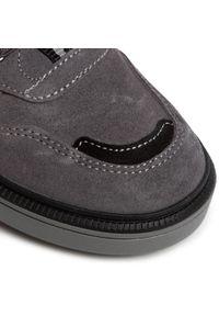 RenBut - Sneakersy RENBUT - 33-4416 Popiel. Okazja: na spacer, na co dzień. Zapięcie: rzepy. Kolor: szary. Materiał: skóra, zamsz. Szerokość cholewki: normalna. Styl: casual #3