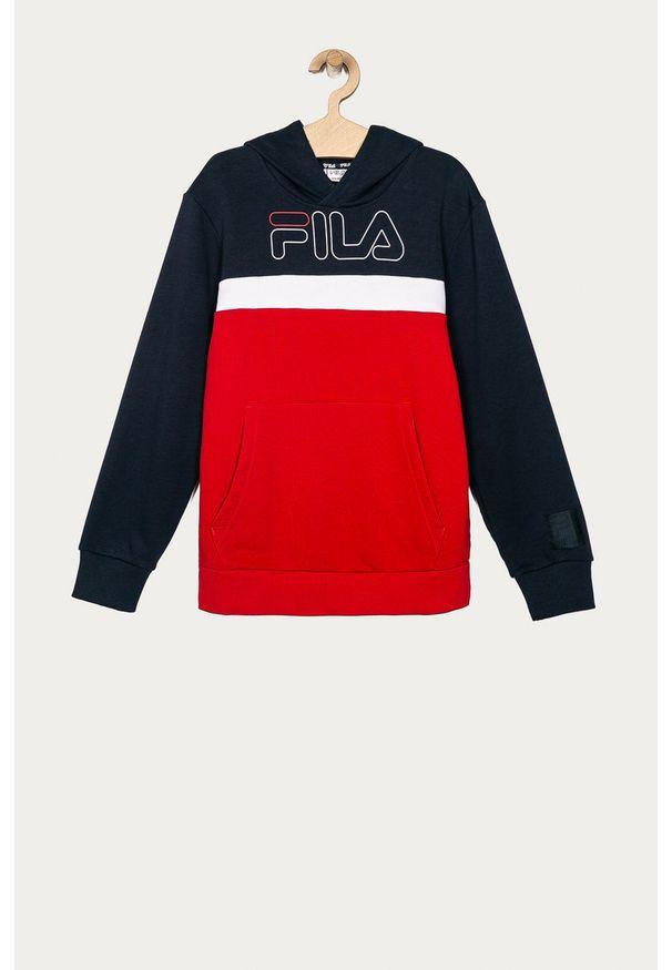 Czerwona bluza Fila na co dzień, z kapturem