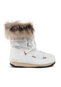 Białe śniegowce Moon Boot z aplikacjami, z cholewką #7