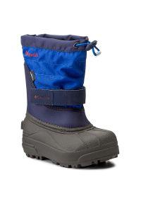 Niebieskie buty zimowe columbia na zimę, z cholewką