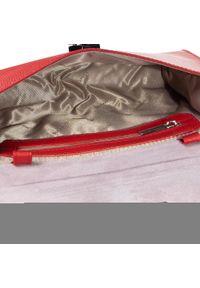 Gino Rossi - Torebka GINO ROSSI - Waganza XK3225-ELB-BT00-0268-S 29. Kolor: czerwony. Wzór: aplikacja. Materiał: skórzane