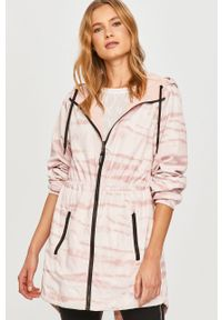 Różowa kurtka DKNY na co dzień, casualowa, z kapturem