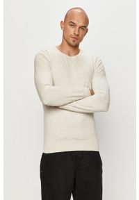 Tom Tailor Denim - Sweter. Okazja: na co dzień. Kolor: szary. Materiał: denim. Styl: casual