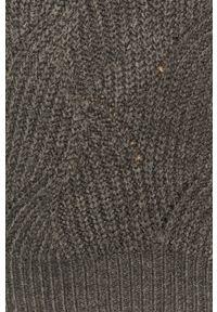 Szary sweter Noisy may casualowy, długi, na co dzień, z okrągłym kołnierzem