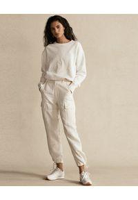 Ralph Lauren - RALPH LAUREN - Kremowe spodnie cargo. Kolor: beżowy. Materiał: tkanina #2