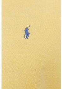 Polo Ralph Lauren - Bluza. Okazja: na co dzień. Typ kołnierza: polo. Kolor: żółty. Styl: casual