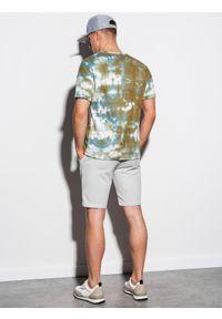 Oliwkowy t-shirt Ombre Clothing